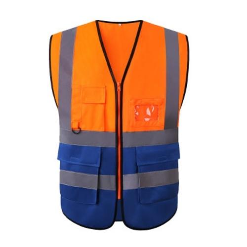 Colete de segurança de alta visibilidade com bolsos