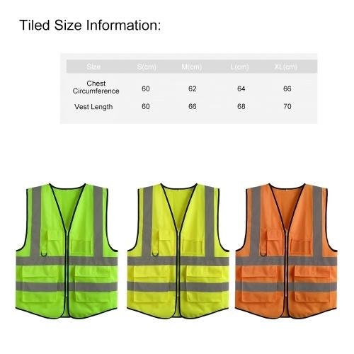 LA-2018 Reflective Safety Vest High Visibility Safety Vest Bright Neon Color Breathable Vest with Reflective Strips for Construction sanitation Worker Roadside Emergency XL Size
