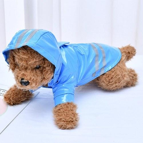 Cão de estimação capa de chuva reflexiva