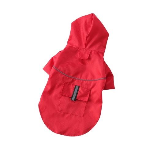 Летнее уличное пальто для щенков от дождя