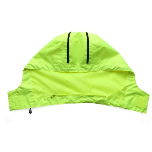Safety Rain Jacket with Detachable Quilted Jacket Hood Waterproof Reflective High Visibility Safety Raincoat Traffic Jacket for Winter Yellow Size 3XL