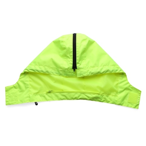 Safety Rain Jacket with Detachable Down Jacket Hood Waterproof Reflective High Visibility Safety Raincoat Traffic Jacket for Winter Yellow Size 3XL