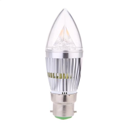 B22 8W LED Candle Light Bulb Chandelier Lamp Spotlight High Power AC85-265V