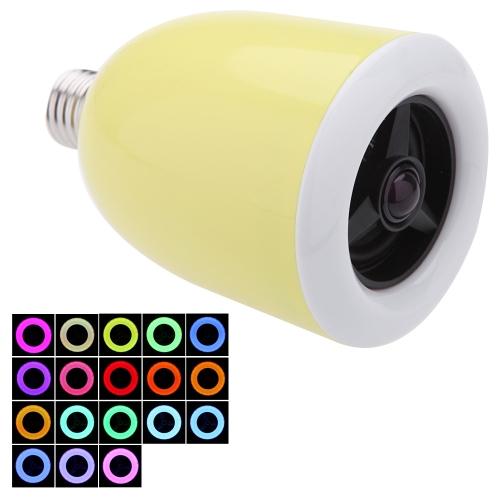 E27 Светодиодные лампы лампа красочные 18 цветов регулируемой беспроводной Bluetooth 4.0 динамик для IOS Android-смартфон ИМАК/PC-энергосберегающие музыкальный проигрыватель