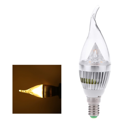 E14 6W LED Candle Light Bulb Chandelier Lamp Spotlight High Power AC85-265V White & Warm White Adjustable