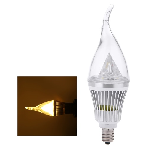 E12 6W LED Candle Light Bulb Chandelier Lamp Spotlight High Power AC85-265V