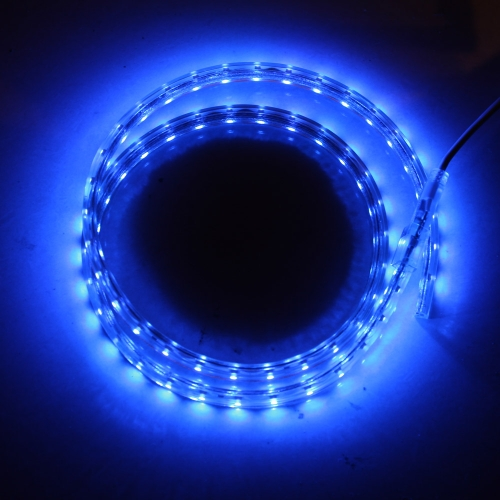 1M 60 LED/M 3528 SMD Flexible Strip Light Roll IP55 High Voltage Power Plug 220V