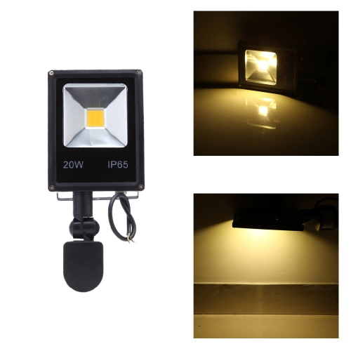 20W  LED Flood Light 85~265V  PIR Motion Sensor Induction Sense Lamp  Water-resistant Environmental-friendly for Pathway Outdoor Stair Step Garden Yard
