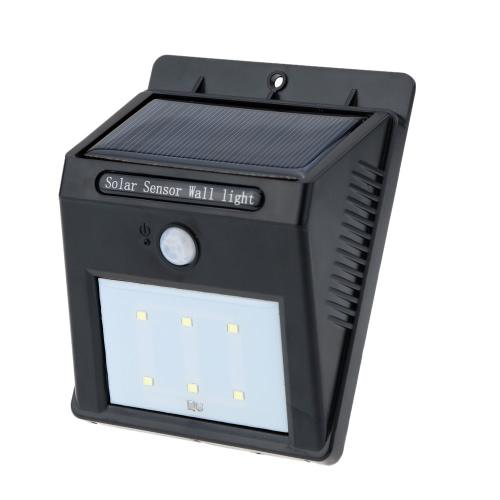 6 LEDs Solar Panel Wall Light Lamp