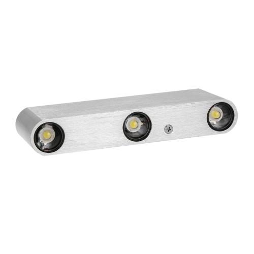 6W 85-265V AC moderno aluminio Simple pared LED lámpara iluminación interior sala comedor dormitorio cocina para iluminación y decoración para el hogar