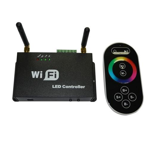 Lixada Wifi contrôleur de LED pour iPhone / Android avec télécommande à écran tactile pour RF RGB LED bandes