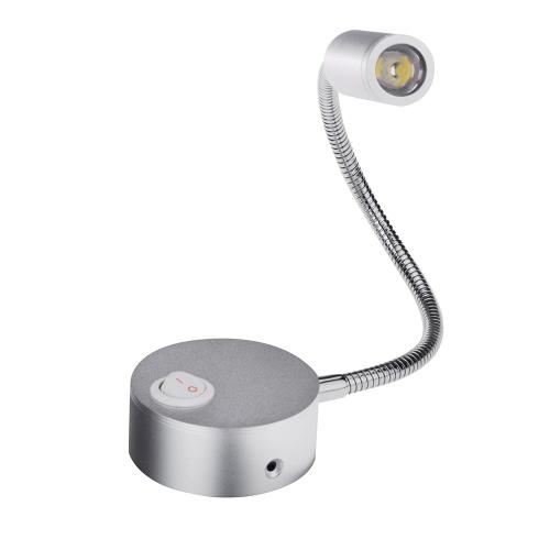 Светодиодные Бра света LED тумбочка чтения стены лампы мягкие регулируемые 3W фон зеркало свет трубки с выключателем