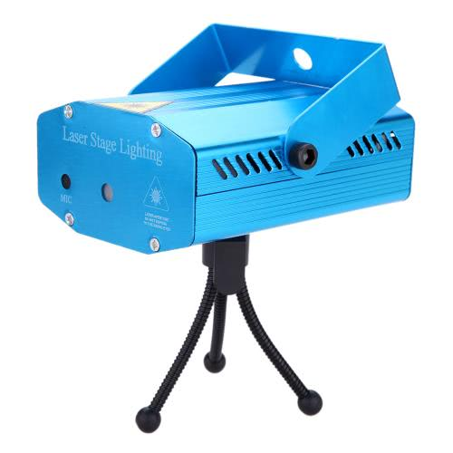 Mini LED Red & Green  Laser Projector Stage Lighting with Tripod Voice-activated Voice-control Automatical  AC110-240V DJ Disco Party Club Light