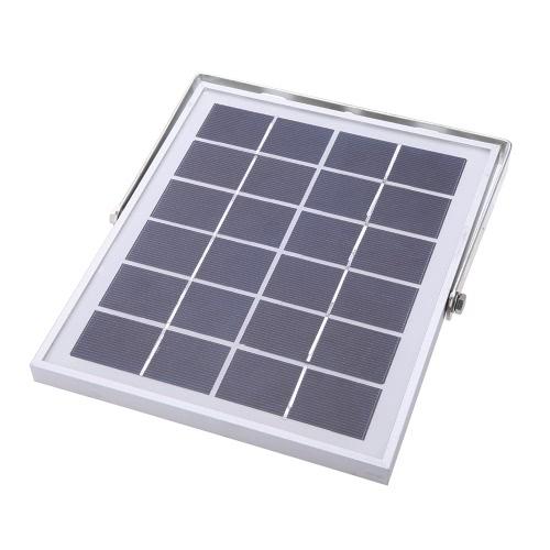 80 LED Solar Powered PIR Lamp Panel White