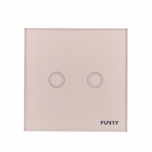 Luxury Crystal Toughened Glass Switch Panel 110~250V Wireless Remote Touch Screen Wall Light Switch