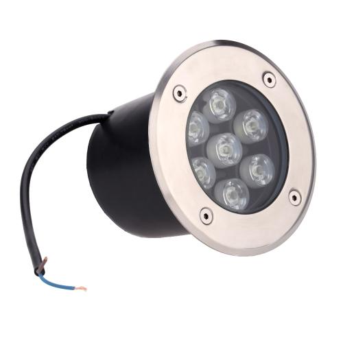 7W LED Outdoor Ground Garden Path Floor Underground Buried Yard Lamp Spot Landscape Light IP67 Waterproof AC 85-265V