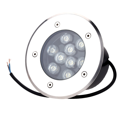 9W LED Outdoor Ground Garden Path Floor Underground Buried Yard Lamp Spot Landscape Light IP67 Waterproof AC 85-265V
