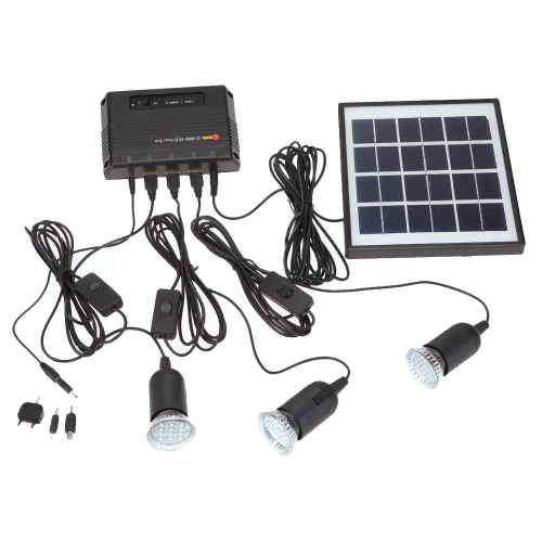 Panel Solar con 3 LED luz lámpara de 4W