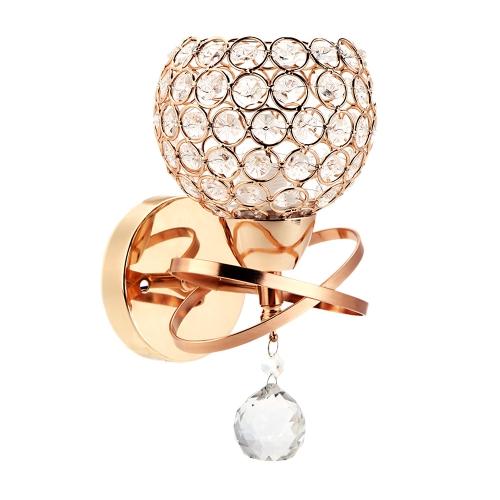 Nowoczesna kryształowa lampa ścienna kryształowa Lampa sypialna ze schodami sypialni E14 Pojedyncza podstawa Złoty kolor Kryty Oświetlenie dekoracyjne