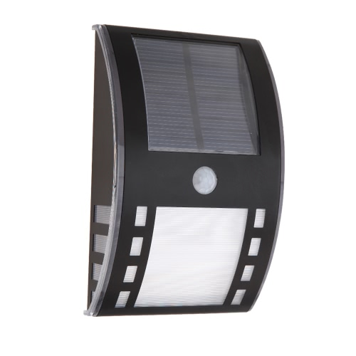 Solar Powerd Wirless PIR Motion Light Sensor Warm White LED Wall Lamp for Garen Door Entrance Pathways Patios