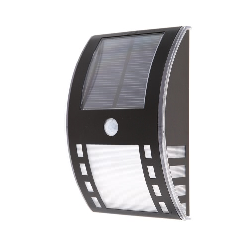 Solar Powered Wireless LED Wall Lamp Warm White