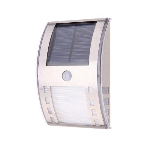 Solar Powerd Wirless PIR Motion Light Sensor Warm White LED Wall Lamp for Garen Door Entrance Pathways Patios