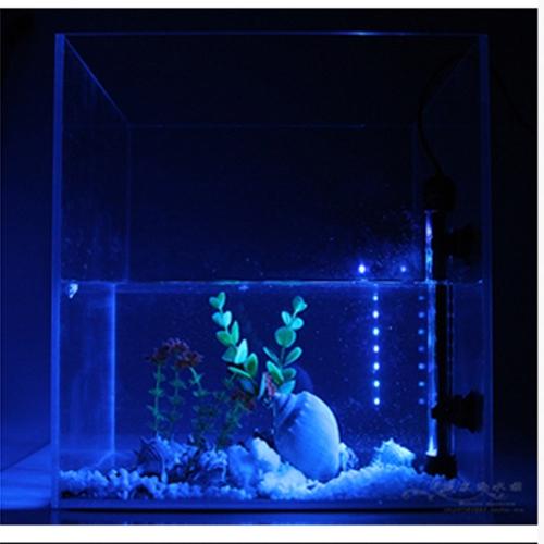 Подводный 24 привели красочные лампа 5W Аквариумные рыбы танк сад свет всасывания Stick полосы бар у бассейна