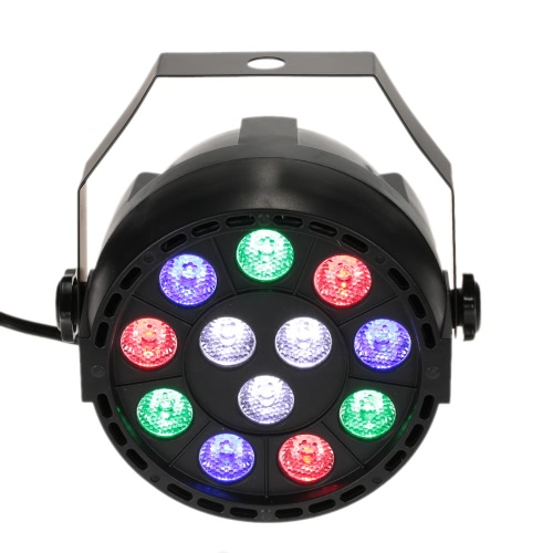 Lixada DMX-512 RGB LED High Power Stage PAR Light Lighting Strobe Professional 8 Channel Party Disco Show 15W AC 90-240V