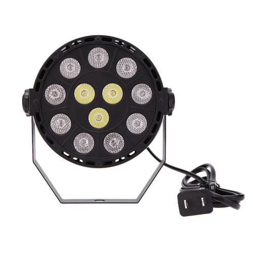 Lixada DMX-512 RGBW LED High Power Stage PAR Light Lighting Strobe Professional 8 Channel Party Disco Show 15W AC 90-240V