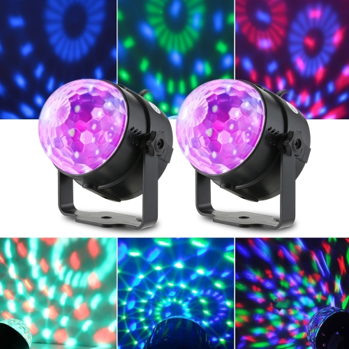 Tomshine RGB LED Mini Crystal Ball Stage Lights