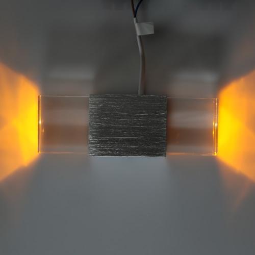 Image of Lixada 2W 85-265V AC Aluminium LED Wand Licht Doppel End Cristal artigen Lampe Moderne Simple Style Indoor Schlafzimmer Flur Küche Hotel für Dekor-Beleuchtung