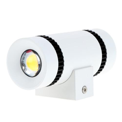 6W 85-265V AC moderno aluminio Simple pared LED extremo doble luz lámpara luminario interior pasillo habitaciones para iluminación y decoración para el hogar