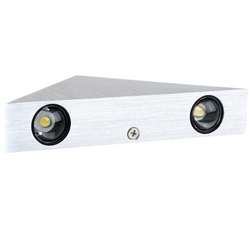 Image of 2W 85-265V AC moderne einfache dreieckige Aluminium LED Wand Lampe Licht innen Schlafzimmer Flur Küche für Dekoration und Beleuchtung