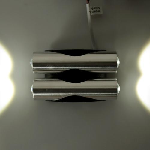 Image of 4W 85-265V AC moderne einfache Aluminium LED Wall Light Double End Beleuchtung Leuchte Indoor Schlafzimmer Flur Küche für Home Decor und Beleuchtung