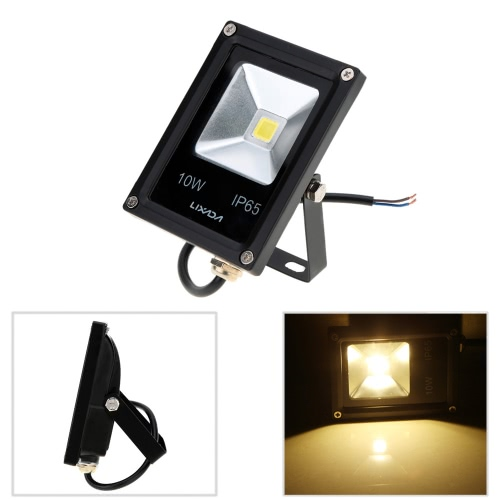 Lixada 10W IP65 Ultrathin Black Aluminum LED Flood Light