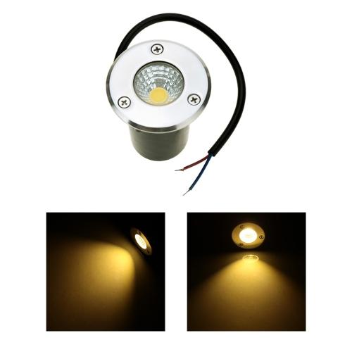 5W 85-265V AC IP67 COB LED lámpara luz impermeable alta potencia templado vidrio jardín patio paisaje CE RoHs