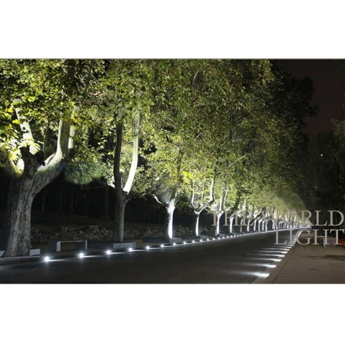 TOMTOP / 7W 12V DC IP67 COB LED Underground Light Lamp Waterproof High-power Tempered Glass Outdoor Garden Path Square Yard Landscape CE RoHs
