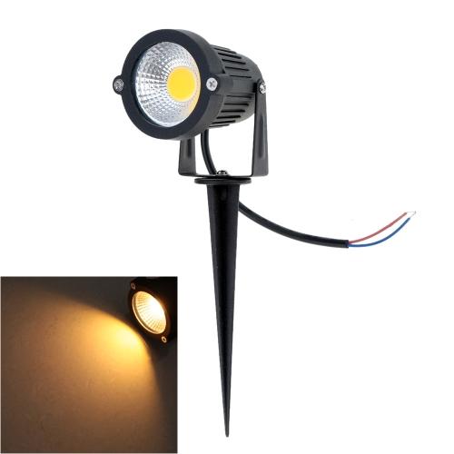 6W 85-265V AC IP65 черного алюминия привели газон светильник лампа высокой мощности RGB тепло/природа белый пруд сад путь CE RoHs