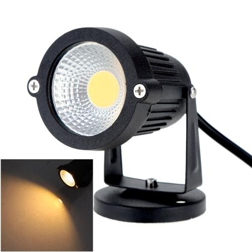 8W 85-265V AC IP65 Black Aluminum LED Lawn Spot Light Lamp High Power RGB Warm/Nature White Outdoor Pond Garden Path CE RoHs