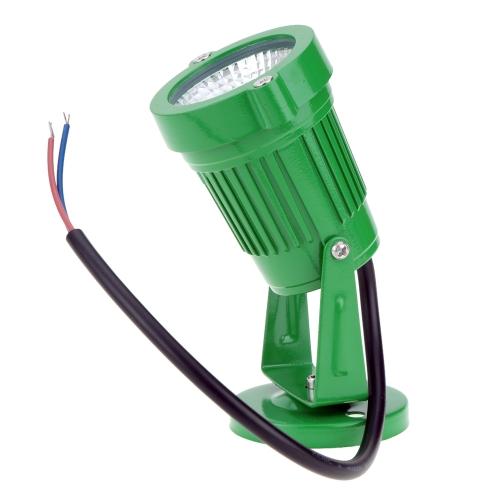 TOMTOP / 8W 12V AC DC IP65 Green Aluminum LED Lawn Spot Light Lamp High Power RGB Warm/Nature White Outdoor Pond Garden Path Landscape Decor CE RoHs