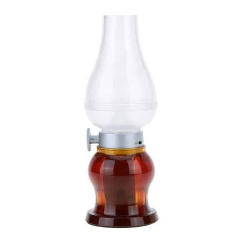 Lixada LED Ночная Лампа классическое управление вдувания USB зарядная регулируемая яркость для стола
