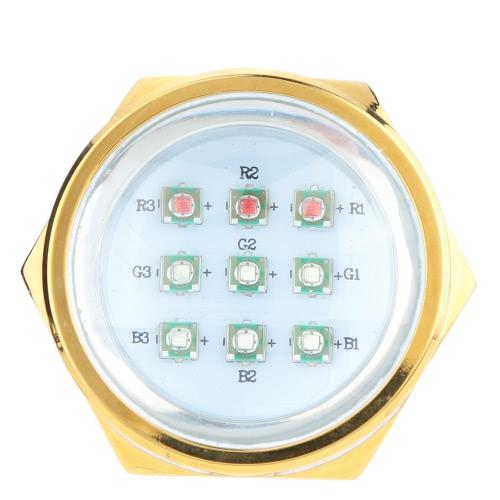 Aluminum Alloy 9*3W RGB LED Marine Light Drain Plug Light Underwater Boat Light IP68 Waterproof with Controller Remote Control