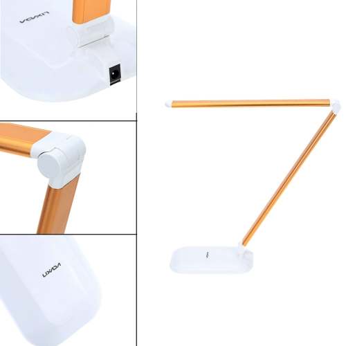 Lixada Rechargeable Touch Switch LED Table Lamp Dimmer Eye Protect Adjustable Brightness Foldable Flexible for Bedroom Study Dormitory Office