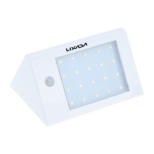 Lixada Solar Powerd Wireless PIR Motion Light Sensor White LED Wall Lamp for Garen Door Entrance Pathways Patios