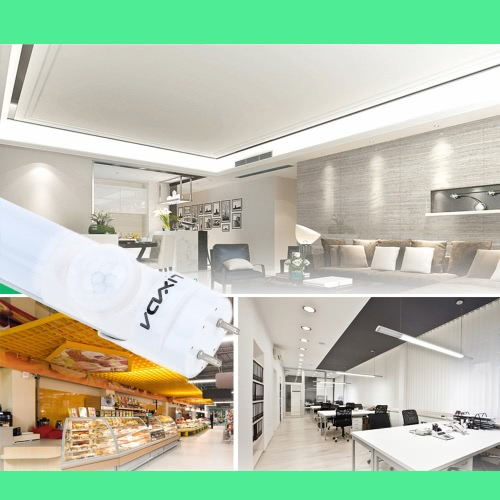 Lixada Energy Saving PIR Infrared T8 60cm/600mm/2ft  LED 10W  Tube Light Lamp Fixture Fluorescent Replacement