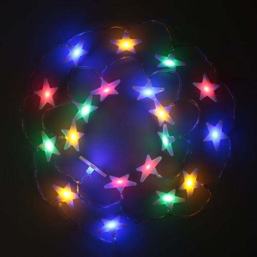 lixada 2 1m 20 led multi color five pointed flat star l 12125 | l0553 11 944c