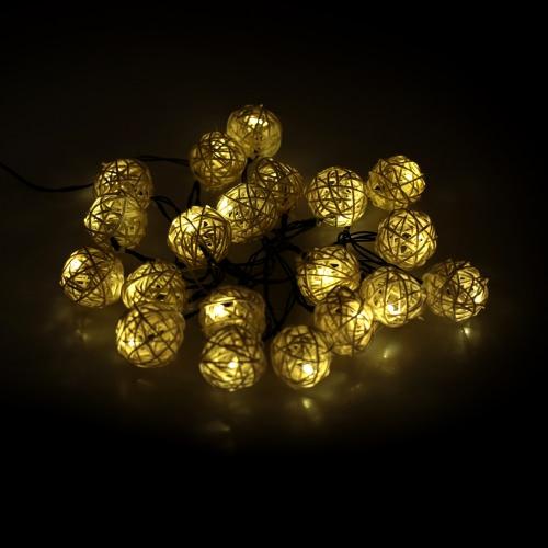Lixada jardín Solar Powered 4,6 M 20LED caliente vid blanco bola globo luz Control cadena lámpara luces para la decoración de sala de fiesta de boda