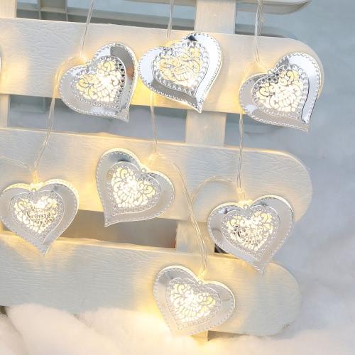 2,1M 20 LED-Herz-Anhänger-String-Lampe