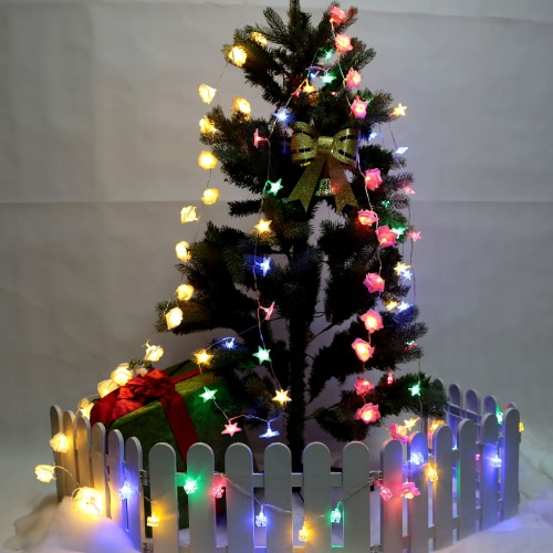2.1M 20 LED Multi Color Five-pointed Stereo Star Lamp фото