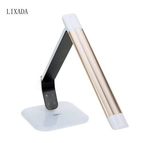Lixada Touch Switch Eye Protect Adjustable Brightness & Color Temperature Foldable TUV Certificated LED Table Lamp